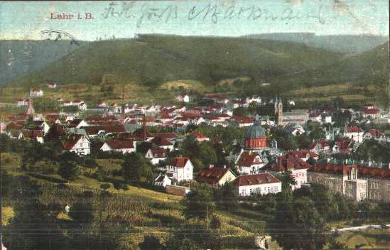 Historisches Stadtfoto Lahr